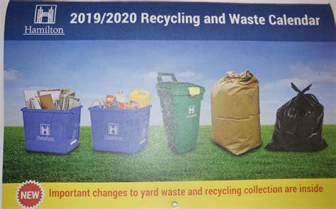 hamilton waste calendar arrived smart recycle
