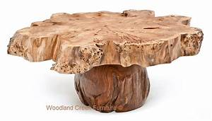 burl wood coffee table slab cocktail thick massive With natural cut wood coffee table