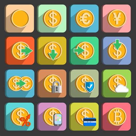 icons set  electronic payments  transactions