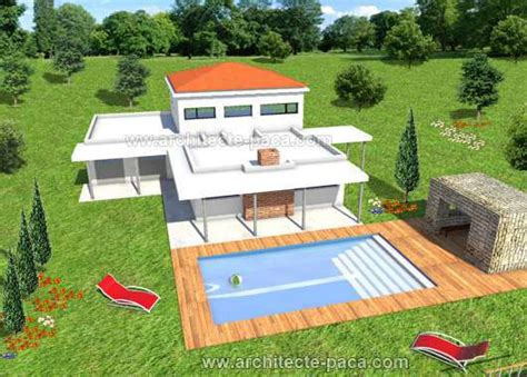 plan de maison patio 4 5 pi 232 ces villa d architecte 152 villa contemporaine