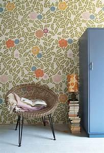 Papier Peint Fleuri Vintage : inke scandinave vintage home sweet home ~ Melissatoandfro.com Idées de Décoration