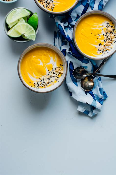 Red kuri squash soup with miso + coconut milk   Scaling Back
