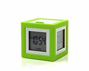 Amazon Lexon Cubissimo Alarm Clock Neon Green