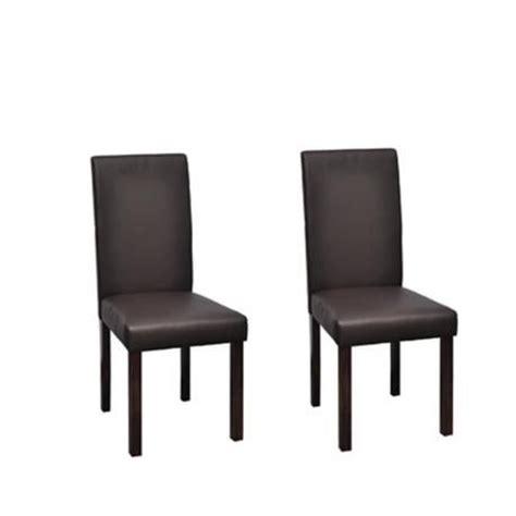 chaise design classique marron lot de 2 achat vente