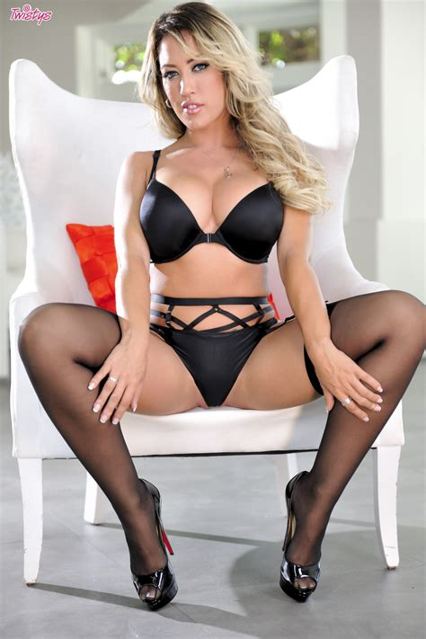 Capri Cavanni In Black Lingerie And Stockings Naked And Sexy