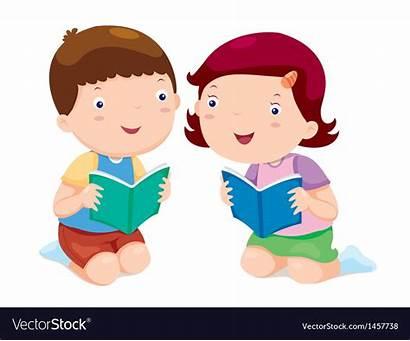Reading Vector Books Royalty Vectorstock