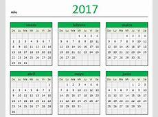 Descarga tu Calendario 2017 en Excel Blog Aplica Excel