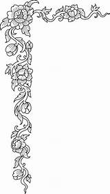 Flower Corner Borders Coloring Pages Patterns Leather Border Diary Pattern Floral Designs Debate Carving Embroidery Stencils Liveinternet Corners Craft Bellos sketch template