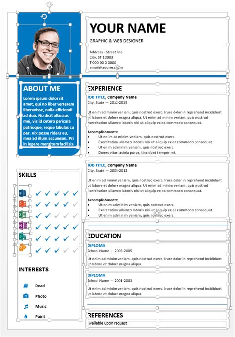 bayview clean powerpoint resume template