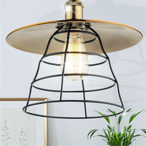 lampara colgante laton bronce pendulo luz mesa de comedor