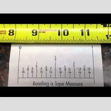 Easy How To Read A Tape Measure Youtube