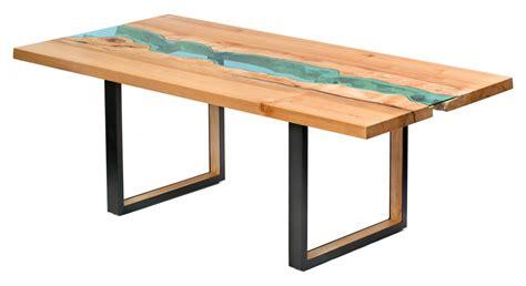 tisch holz glas table bois verre riviere 03 la boite verte