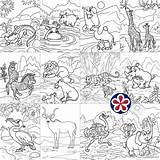 Coloring African Animals Wild Buylapbook Printables sketch template