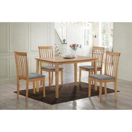 New Haven Medium Dining Set With 4 Slatted Chairs In Grey