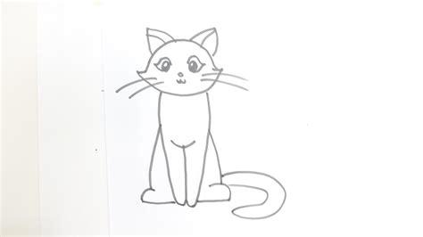 draw  cartoon cat sitting youtube
