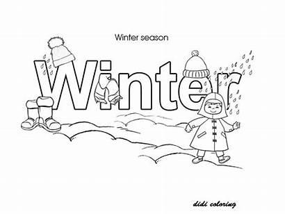 Coloring Winter Season Pages Printable Seasons Snow