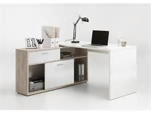 Staples Corner Desk White by Bureau D Angle Diego Up Chene Blanc Brillant