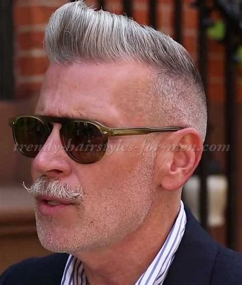 hairstyles for men over 50   Nick Wooster pompadour