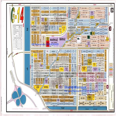 Layout Maps Of Islamabad Sectors And Societies Manahil