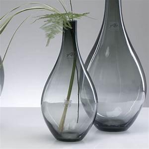 Vase Schwarz Glas : glasvase fum glas vase tischvase blumenvase bauchig grau schwarz 30 cm ebay ~ Indierocktalk.com Haus und Dekorationen