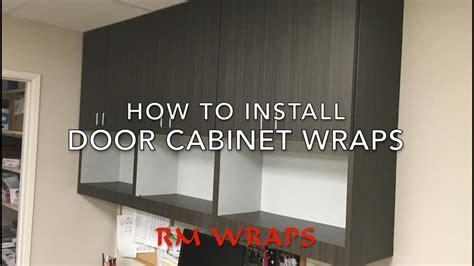 wrapping  cabinet door    noc vinyl rmwrapscom