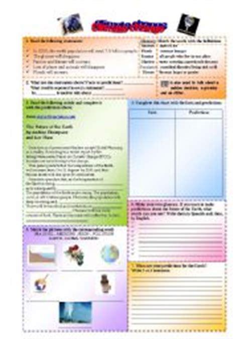 English Worksheets Climate Change