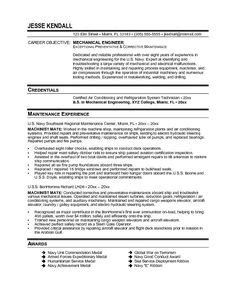Area Of Interest In Resume For Mechanical Engineering by Click Here To This Mechanical Engineer Resume