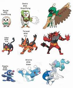 Pokemon Sun And Moon Starter Evolution By Shironakarius On