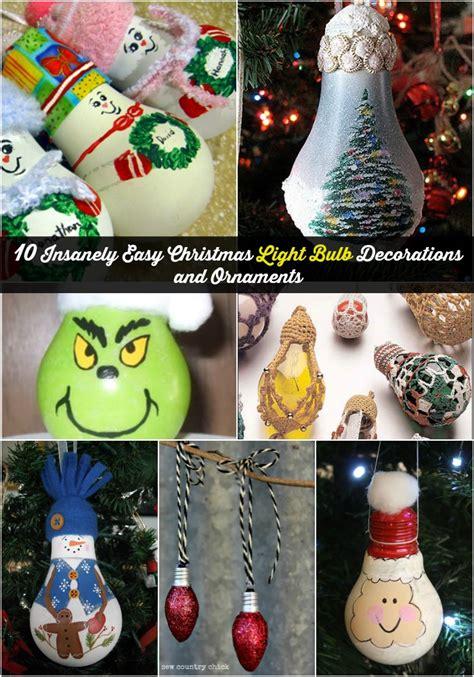 insanely easy christmas light bulb decorations