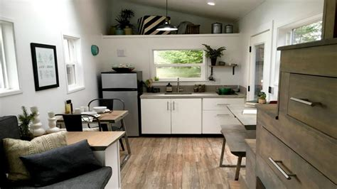 Midcentury Modern Tiny Home  Small House Interior Design