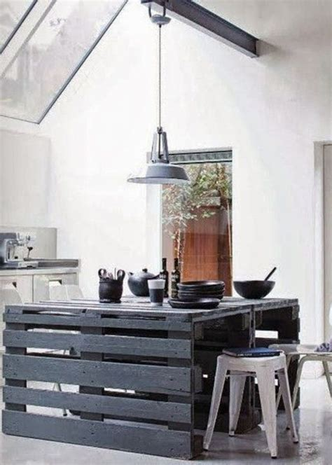 ilot cuisine palette la récup dans la cuisine cocon de décoration le