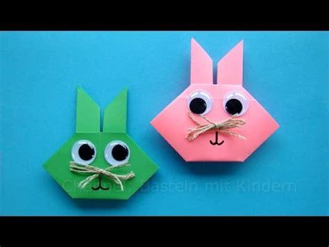 ostern mit kindern basteln osterhasen falten origami hasen basteln mit kindern geschenke f 252 r ostern basteln mit papier
