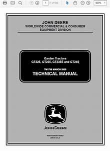 John Deere Gt225  Gt235  Gt235e And Gt245 Garden Tract