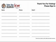 Open House Sign In Sheet Printable Templates Free & Ready