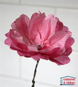 Fleur En Papier De Soie : pivoine en papier de soie cabane id es ~ Nature-et-papiers.com Idées de Décoration