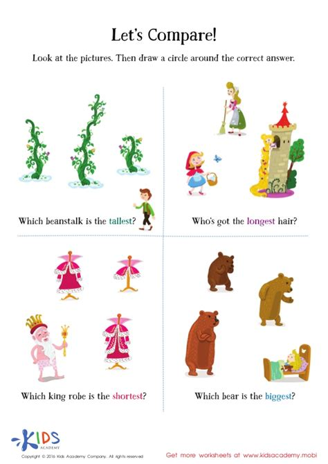 comparing objects worksheets image collections worksheet