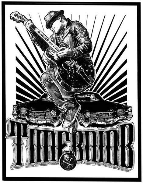 Tim Timebomb ScreenPrint Poster A Tribute Punk Rock Tattoo Teeshirts | Screen print poster, Band