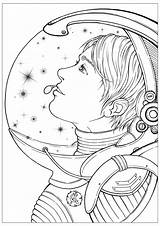 Coloring Stars Stress Anti Astronaut Head Pages Adult Explore Star She Zen Dreams Combination Adults Books Cool Antistress sketch template