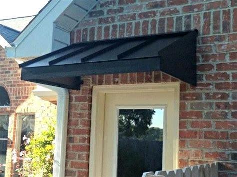 black metal awning wedge  gallery design  custom awnings home improvement metal awning
