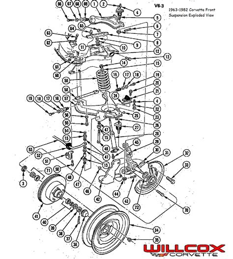 corvette front suspension exploded view