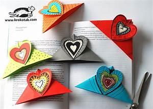 krokotak HEART BOOKMARKS