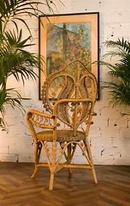 Chaise Vintage En Rotin Chaise Coeur Osier Rtro