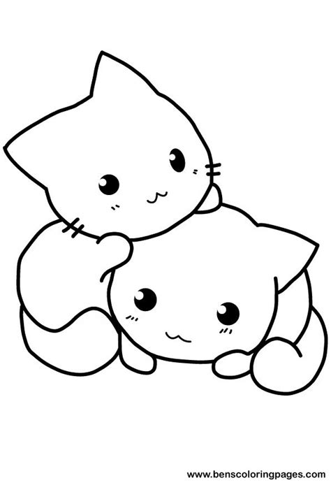 cute cat coloring pages    print