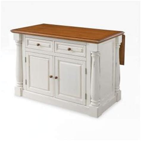 kitchen islands with drop leaf home styles monarch distressed oak drop leaf kitchen island in white 5020 94 the home depot