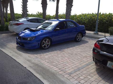 subaru wrx custom blue 2007 subaru impreza wrx tr for sale naples florida