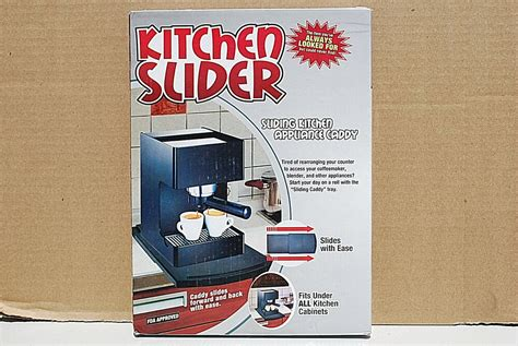 kitchen slider sliding kitchen appliance caddy counter top