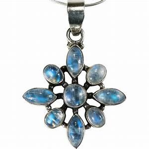Natural Blue Moonstone Pendant 925 Sterling Silver Snake ...
