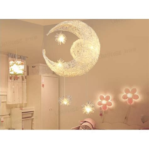 lustre de chambre moon kid enfant chambre suspension lustre lumière