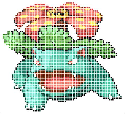 Pikachu Perler Beads Template