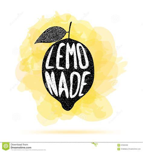 poster  lemon silhouette  word lemonade stock